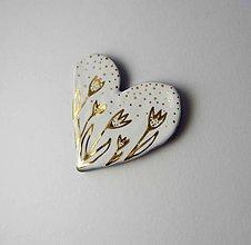 Odznaky/Brošne - Tana šperky - keramika/zlato - 9943600_