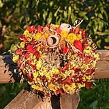 Dekorácie - Jesenný prírodný venček - 9943196_