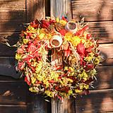 Dekorácie - Jesenný prírodný venček - 9943922_