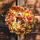 Dekorácie - Jesenný prírodný venček - 9943923_