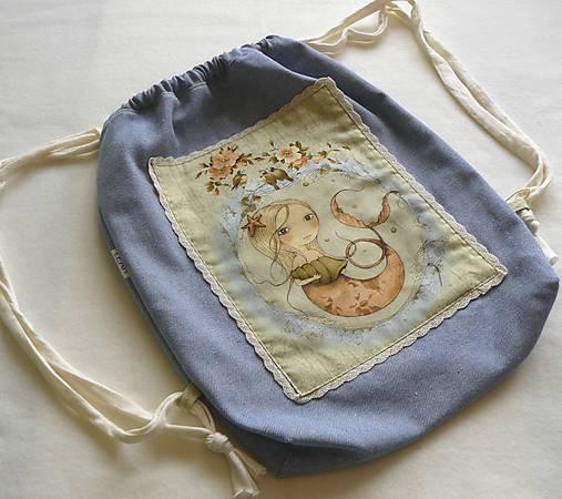 29e49e95d Dievčenský ruksak, batoh, vak č.3 veľ.L / LEAN - SAShE.sk - Handmade ...