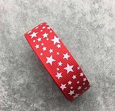 Galantéria - SR102 Vianočná stuha ripsová 2 cm / cena za meter (Červená) - 9946066_