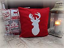Úžitkový textil - Vianočná obliečka so sobom či jeleňom - 9945559_