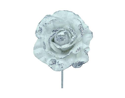 Ruža biela glitrová