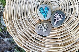 Drobnosti - Ligotavá láska - Na kameni maľované - 9944370_