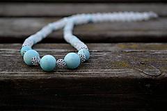 Larimar náhrdelník Ag 925