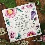 Papiernictvo - Svadobné oznámenie ~Flower Silver kocka~ - 9944109_