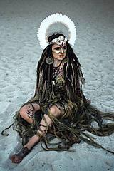 Ozdoby do vlasov - Koruna z kolekcie Halloween Šamanka - 9945656_