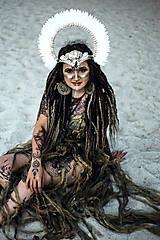 Ozdoby do vlasov - Koruna z kolekcie Halloween Šamanka - 9945657_