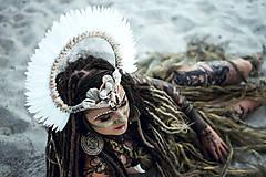 Ozdoby do vlasov - Koruna z kolekcie Halloween Šamanka - 9945659_