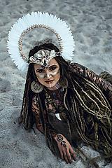 Ozdoby do vlasov - Koruna z kolekcie Halloween Šamanka - 9945661_