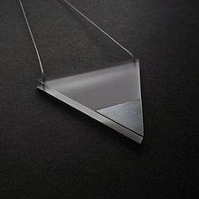 Náhrdelníky - pure//steel//triangle - 9942987_