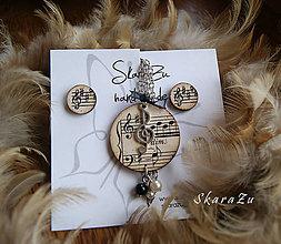 Sady šperkov - Stará hudba / sada s napichovačkami - 9944812_