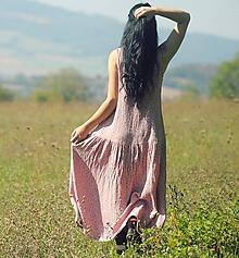 Šaty - Maxi mušelínové růžové - 9945873_