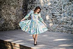 - Kvetované košeľové šaty ako z impresionizmu - 9942812_