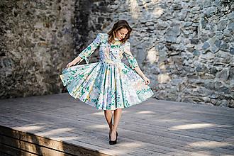 Šaty - Kvetované košeľové šaty ako z impresionizmu - 9942812_
