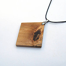 Náhrdelníky - Špaltovaná breza - kosý - 9945214_