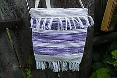 Iné tašky - Tkaná taška bielo - fialová - 9943093_