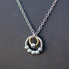 Náhrdelníky - Přívěsek Kuličkovník (chirurgická ocel) (zlatý II) - 9946810_
