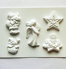 Pomôcky/Nástroje - Plastová forma - Vianoce - sob, anjel, snehuliak, sviečka - 9946872_
