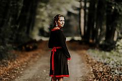 Šaty - Čierne midi šaty Pod Tatrami - 9946181_