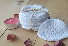 Úžitkový textil - Sada háčkovaných odlíčovacich tampónov (10 ks) - 9947827_