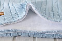 """Textil - Detská deka """"Vrkoč"""", OEKO-TEX® - Modrá (Modrá) - 9947838_"""