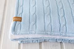 """Textil - Detská deka """"Vrkoč"""", OEKO-TEX® - Modrá (Modrá) - 9947851_"""