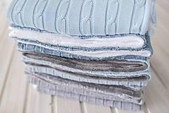 """Textil - Detská deka """"Vrkoč"""", OEKO-TEX® - Modrá (Modrá) - 9947858_"""