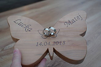Prstene - Podnos na svadobné obrúčky - 9947996_