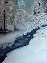 Obrazy - Zimná krajinka - 9946320_