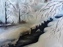 Obrazy - Zimná krajinka - 9946321_