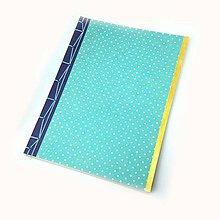 Papiernictvo - Notes s japonskou väzbou a bodkami - 9946404_