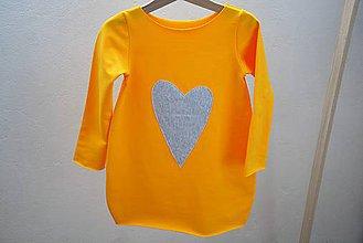 Detské oblečenie - Balónové šaty/tunika Looan Heart - 9947528_