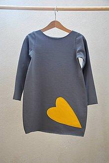 Detské oblečenie - Teplákové šaty/tunika Bealoo Heart 104, posledný kus!!! - 9948356_