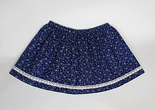 """Detské oblečenie - detská folklórna sukňa """"modrotlač"""" veľkosť 62 až 158 (veľkosť 98) - 9946196_"""