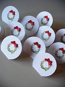 Papiernictvo - vianočné menovky - 9946793_