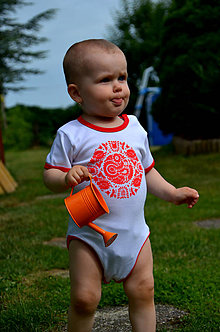 Detské oblečenie - Zľava - Folk body Vtáčatko z Čataja - 9947085_