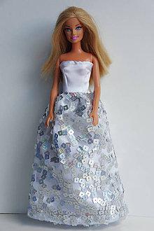 1dc029f4fa7d Hračky - Spoločenské strieborné šaty pre Barbie - 9948044
