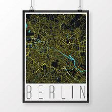 Obrazy - BERLÍN, moderný, čierny - 9946417_