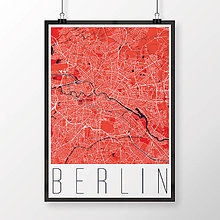 Obrazy - BERLÍN, moderný, červený - 9946975_