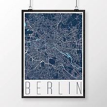 Obrazy - BERLÍN, moderný, tmavomodrý - 9947890_