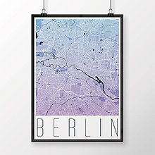 Obrazy - BERLÍN, moderný, modro-fialový - 9947945_