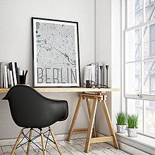 Obrazy - BERLÍN, elegantný, svetlomodrý - 9948248_