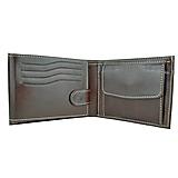 Tašky - Pánska peňaženka z pravej kože v tmavo hnedej farbe - 9947705_