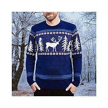 Oblečenie - Sveter s jelenom - Král z Glenu / royal - 9947553_