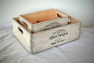 Nábytok - Box střední CACAO OLD WHITE - 9948530_