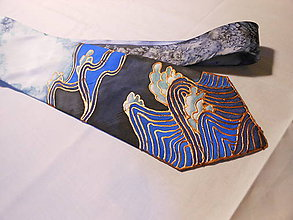 Doplnky - Maľovaná kravata - Vlny - 9946779_
