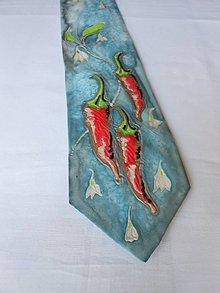 Doplnky - Maľovaná kravata - Chilli - 9946799_
