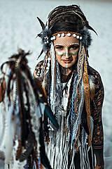 Ozdoby do vlasov - Čelenka z kolekcie Halloween Šamanka - 9946168_